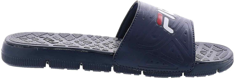 Fila Men's Coolwind 7 Slide Sandal,Navy/White,10
