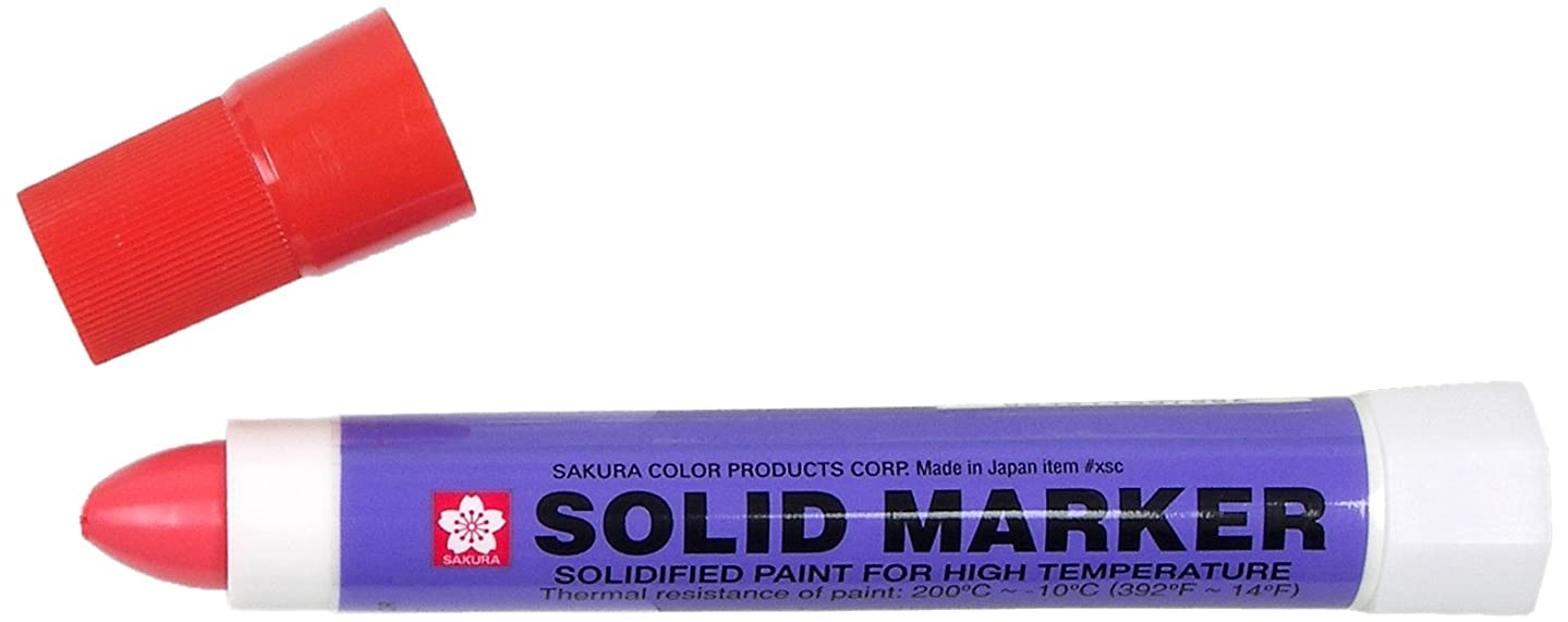 Sakura Solidified Paint Solid Marker, Red (Box of 12)