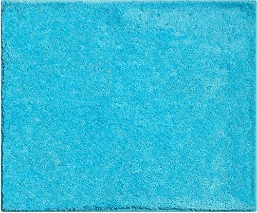 Redenen aan beide zijden bruikbaar badmat 100% katoen, ultra zacht, Öko-Tex gecertificeerd, 5 jaar garantie, WISCONSIN, WC-voorbeeld o.A. 50 x 60 cm, turquoise