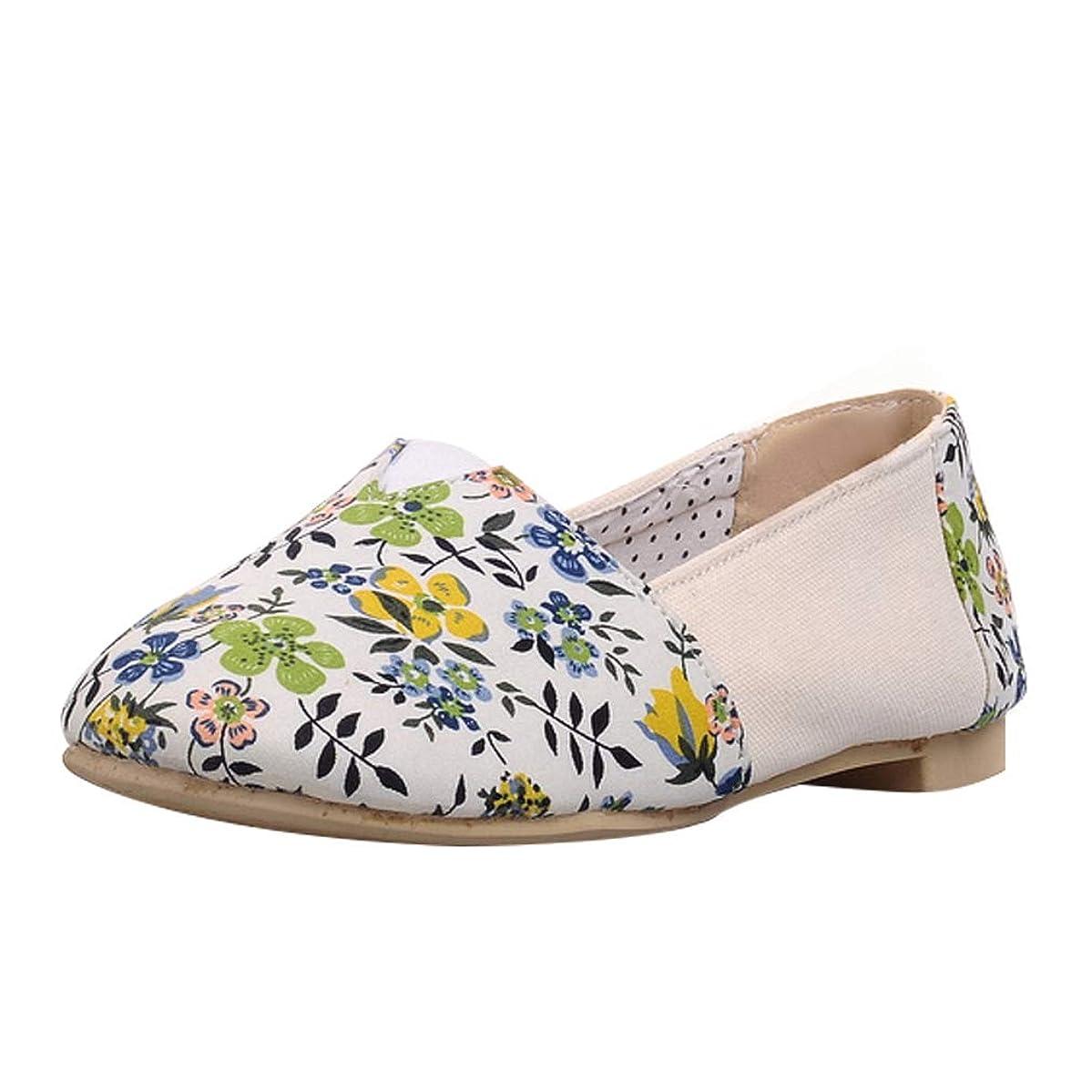 悲劇的な夕方ホールド[KITTCATT] 花柄 靴 レディース ローファーレディースおしゃれ スリッポン レディース 歩きやすい靴 レディース ペタンコ靴 滑らない靴