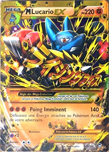 carte Pokémon 113/111 Méga Lucario-EX 220 PV SECRETE ULTRA RARE XY03 NEUF FR