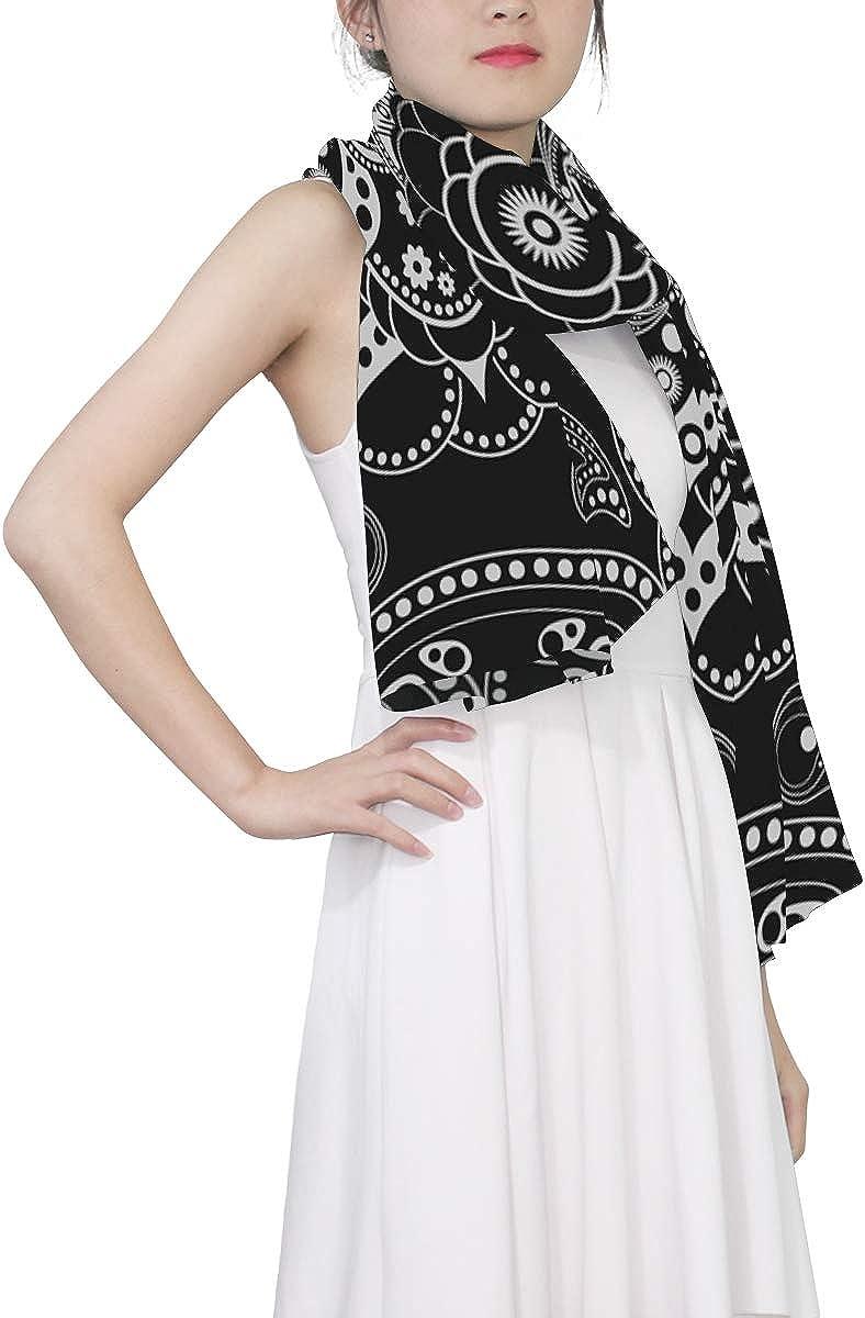 Bandana Face Covering Scarf Satin Neck Scarfs Mandala Spring Scarf Fashion Long Shawl for Women