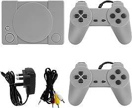 LINGSFIRE Console de jeu rétro, mini console de jeu PS1 avec 851 jeux intégrés, console de jeux classique rouge et blanc d...
