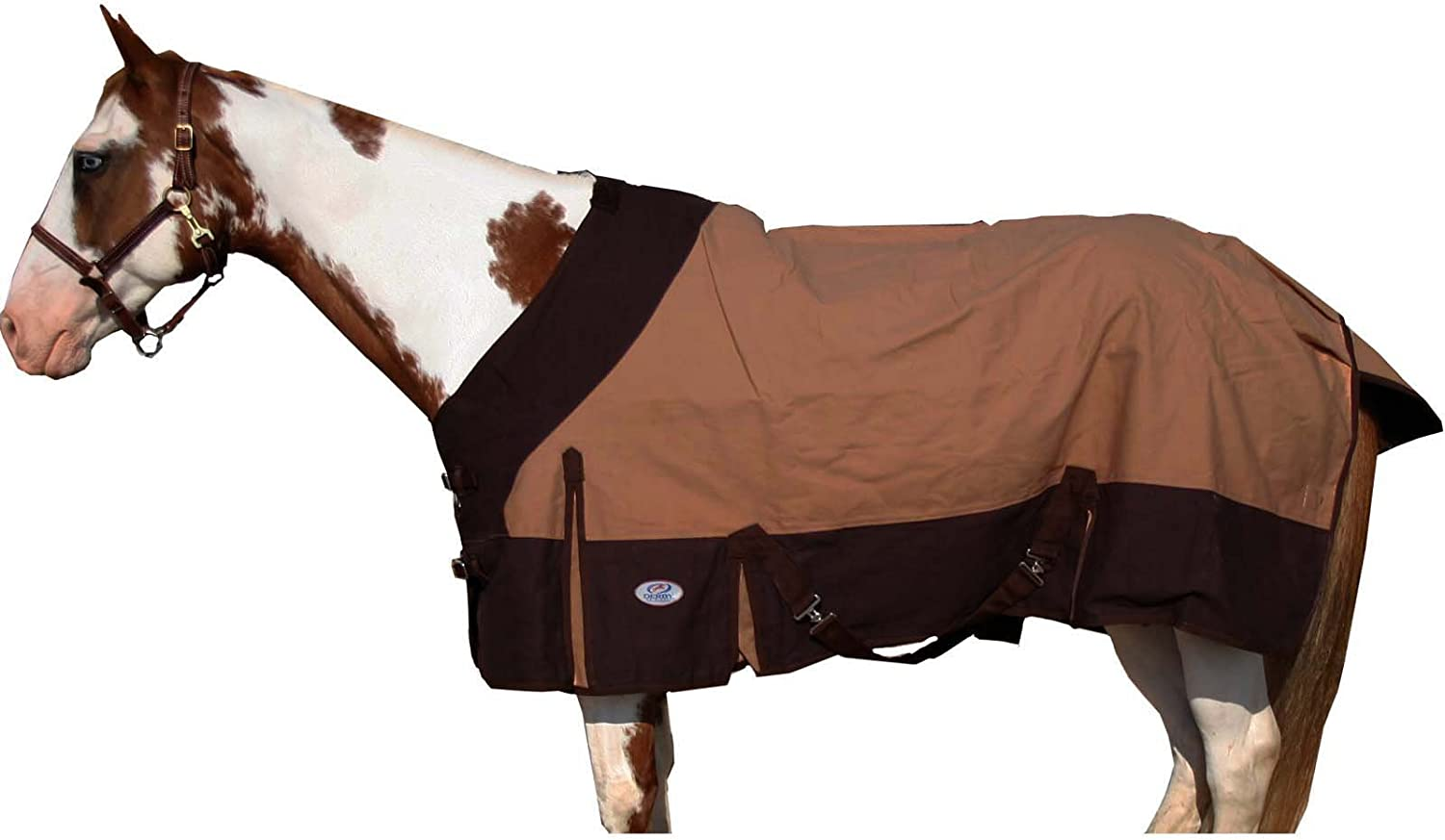 Derby Originals Water Repellant 18oz Duck Canvas Horse Stable Blanket with Pure Wool Lining