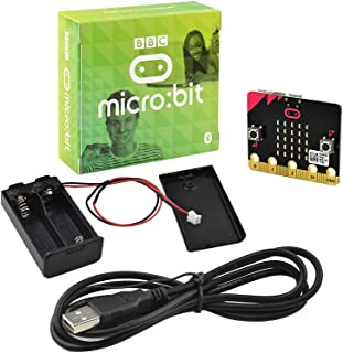 KEYESTUDIO BBC Micro:bit Kit with Microbit V2 Board, AAA Cell Battery Box, USB Cable for Beginners Mini PC to Learn Progra...