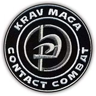 Krav MAGA Contact Combat Patch (3.5 Inch) Embroidered Iron/Sew on Badge Israeli Martial Arts Emblem Applique