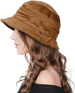 Butterme Womens Fashion Winter Roll Brim Bowler Cap Wool Unisex Vogue Bowler Hat Trendy Homburg Hats Billycock Camel