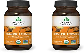 Organic India Turmeric Curcumin Herbal Supplement - Immune System Support, Healthy Inflammatory Response, Whole Root Suppl...