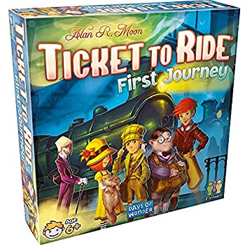 Ticket to Ride First Journey Board Game   Board Game for Kids   Family Board Game   Train Game   Ages 6+   For 2 to 4 players   Average Playtime 15-30 minutes   Made by Days of Wonder