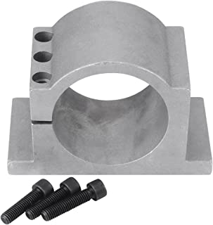 80/100mm Aluminum CNC Spindle Motor Mount Bracket Clamp with Screws, Walfront Spindle Tool Set for 3D Printing CNC Engraving Millng Machine(80mm)