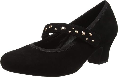 Hotter Charmaine Extra Wide, zapatos de tacón con Punta Cerrada para mujer