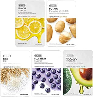 The Face Shop Unisex Brightening Mask Sheet Combo (100 g) - Pack of 5