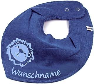 Elefantasie HALSTUCH Löwe mit Namen oder Text personalisiert für Baby oder Kind verschiedene Ausführungen