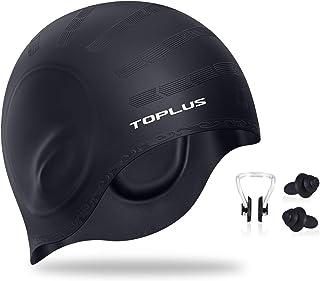 TOPLUS Swim Cap, Durable Silicone Swimming Cap Cover...