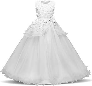 Girls Floor Length Princess Dresses Kids Sleeveless Wedding Party Prom Ball Gowns Maxi Dress