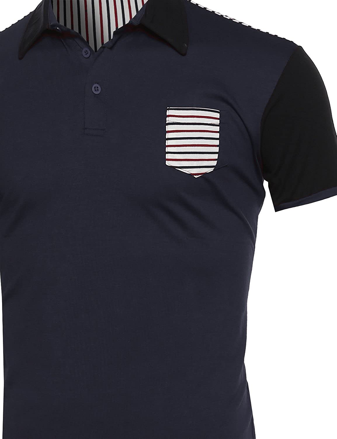 SBW Mens Basic Solid 3 Buttons Polo Shirts in