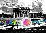 Original Berliner Mauer Postkarte mit Mauerstück der ehemaligen DDR Grenze Clipcards