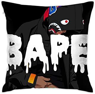 Bape Pillow Cushions Case Throw Pillow Cover Household Pillowcase Zippered Pillow Covers for Sofa Home Decorative