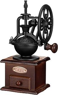 Manual Coffee Grinder,IMAVO Vintage Style 【Great Gift】 Wooden Coffee Grinder Roller Grain Mill Hand Crank Coffee Grinders...