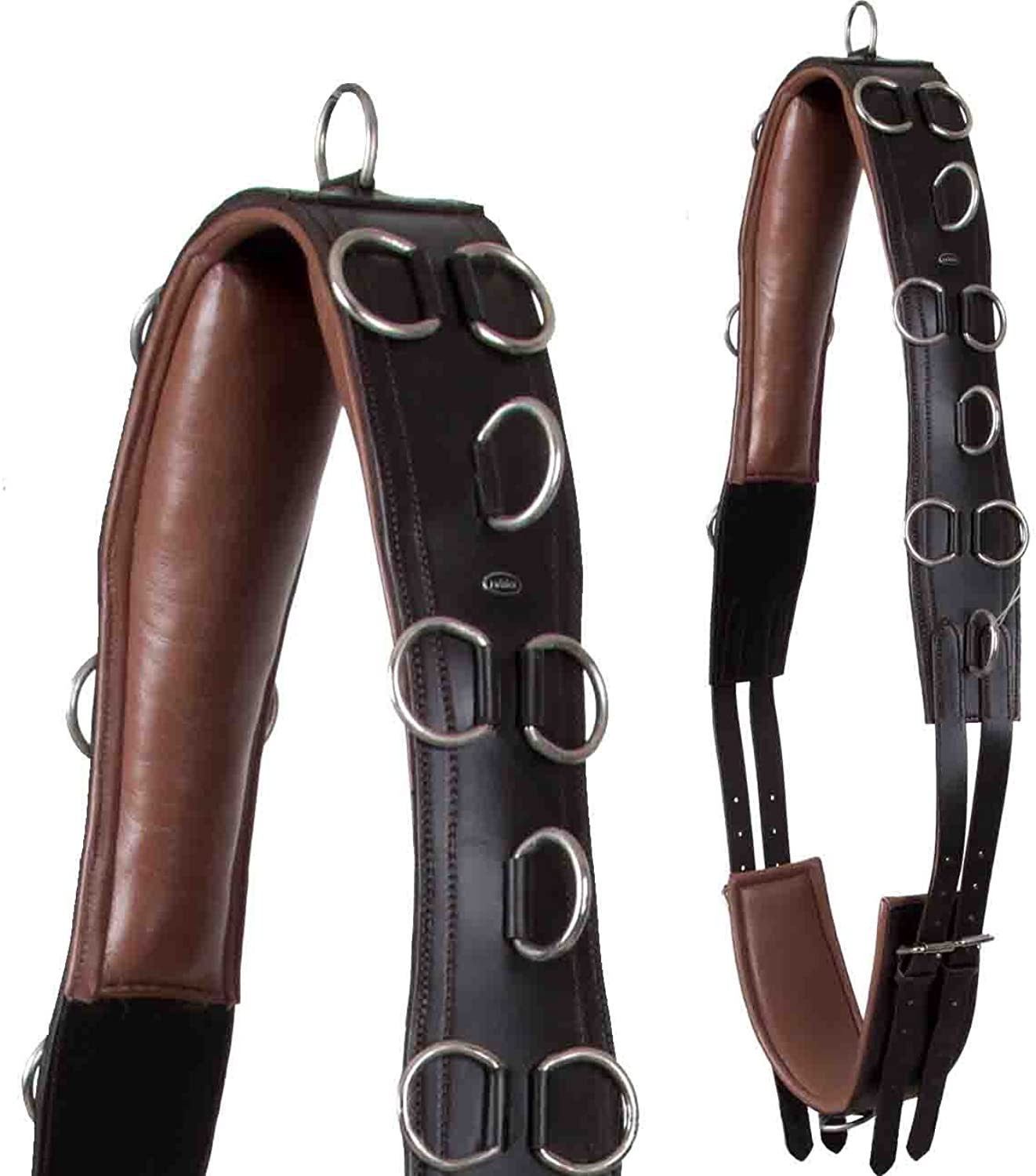 Heinick Riding with Contoured Flexible Quality Leather Lunging Roller Warmblood Horses  Brown Ches Nut