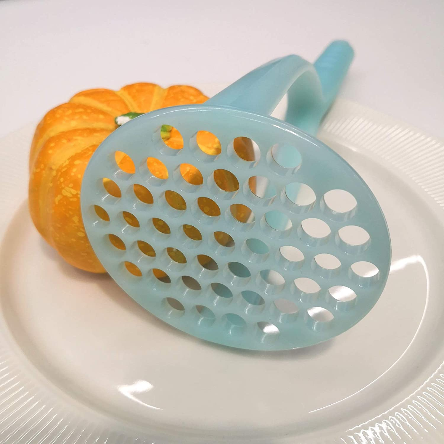 Blue FLYINGSEA Potato Masher,Nylon Potato Masher,Safe For Non-Stick Cookware Cooking and Kitchen Gadget.