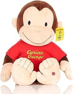 KIDS PREFERRED Curious George Jumbo Plush Stuffed Animal Toy with Sound
