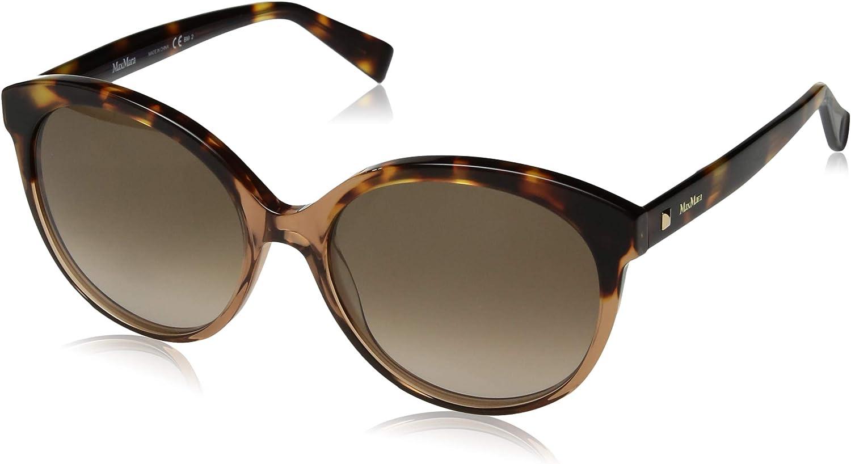 Max Mara Women's Mm Eyebrow I Round Sunglasses Beige Havana 56 mm
