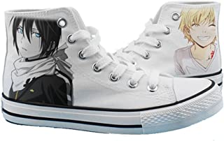 Telacos Noragami YATO Yukine Shoes Cosplay Canvas Shoes Sneakers Black/White