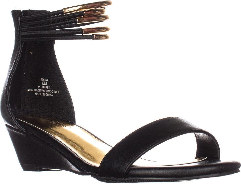Thalia Sodi Womens Leyna Open Toe Casual Platform Sandals, Black, Size 8.0