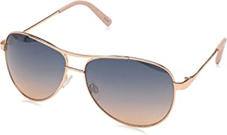 Jessica Simpson Women's J106 Metal Aviator Sunglasses with 100% UV Protection, 60 mm