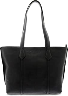 GIUDI ® - Shopping, Borsa Donna in pelle vitello nuvolata, Made in Italy, vera pelle. (Nero)