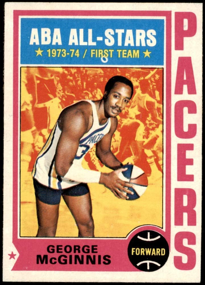 1974 Topps # 220 Ranking integrated 1st place George McGinnis Card Shipping included Indiana Basketball Pacers