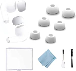 3 Pairs Replacement Ear Tips for AirPods Pro Silicon Ear Buds Tips with Portable Storage Box Fit in The Charging Case- Small, Medium and Large (White)