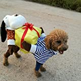 Pet Online Fiesta de disfraces de Halloween ropa perro Fancy Dress Up divertido regalo mascotas Ropa para perros y gatos , de 32 cm de longitud de espalda, pecho, cuello30-3441-47cm cm