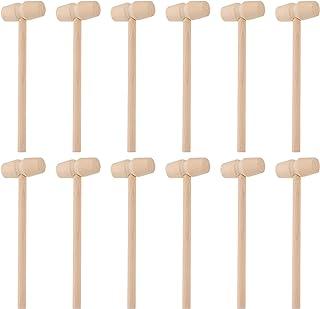 TOYANDONA 30Pcs Mini Wooden Hammer Mallet Wood Hammer Toys Mallet Pounding Toys Educational Toys for Boys And Girls