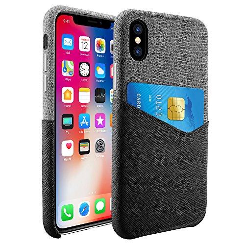 Hanlesi Funda para iPhone X, 5.8 Pulgadas, Negro
