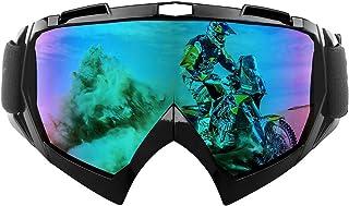 shirylzee Motorcrossbril Motorbril TPU-hars Winddicht UV-bescherming Crossmotorbril Snowboard Skibrillen Offroad-bril over...