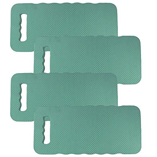 COM-FOUR® 4x kniekussen - ter bescherming van uw knieën - voor de tuin, het huis, in uw vrije tijd of voor werkzaamheden aan de auto (4 stuks - kniekussens)