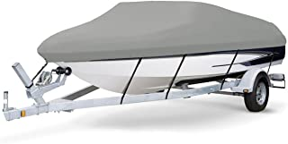7 oz Solution Dyed Polyester Grey, Styled to FIT Boat Cover for BAYLINER 195 Classic RUNABOUT 2004-2005