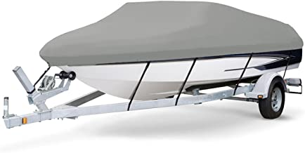 7 oz Solution Dyed Polyester Grey, Styled to FIT Boat Cover for WELLCRAFT 220 Elite XL I/O 1987-1989