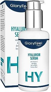 Hyaluronsyra Serum Högkoncentrerad 50 ml + C-vitamin - Dermatologiskt testad - Naturlig anti-aging gel med omedelbar effek...