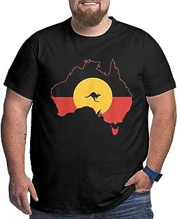 GUOHUA Aboriginal Flag T Shirt Australia Flag Aussie T Shirts for Men Black