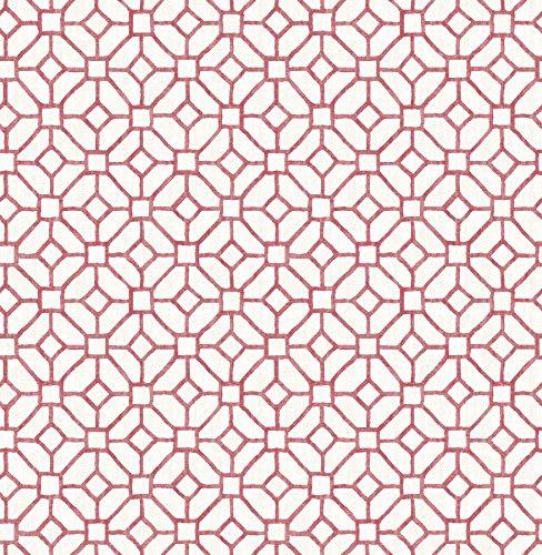 BHF fd22240Ami'Gigi Rosa Geometrico Carta da parati–rubino