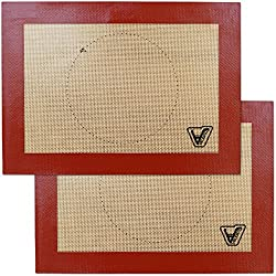 in budget affordable Velesco Silicone Toaster Baking Mats – Set of 2 Mats (Size 7 7/8 x 10 13/16 ) – Not…
