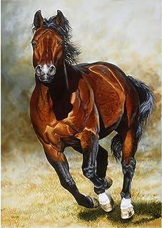 Kit fai da te 5D per pittura a mosaico per adulti con cavallo e diamanti sintetici, con strass di cristallo, ricamo, per d...