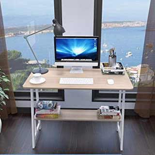 Computer Desk with Hutch and Bookshelf, Home Office Desk with Space Saving Design for Small Spaces - 31.5×19.7Inch