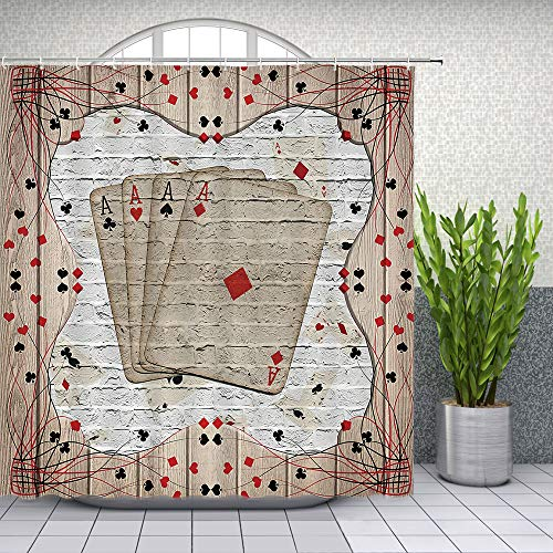 Casino Playing Cards Shower Curtain