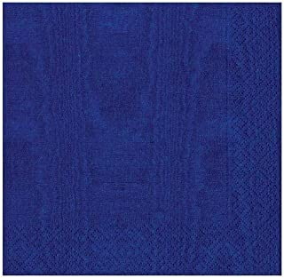 Caspari Paper Moire Cocktail Napkins, Pack of 20, Blue