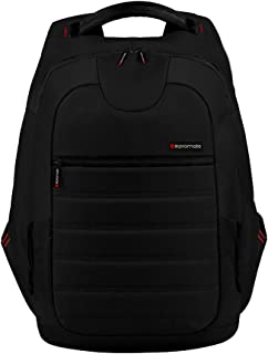 Promate Zest Multifunction Backpack for Laptops with Multiple storage for Laptops upto 15.4 Inch - Black