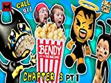 Bendy Choking on Popcorn, Call 911!! Ink Machine and Scary Mickey Mouse!!